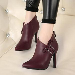 Stiletto Heel Pointed Toe Ankle Boots -