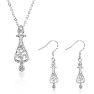 Water Drop Jewelry Set - Silver - Size S