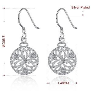 Rhinestone Floral Jewelry Set - SILVER
