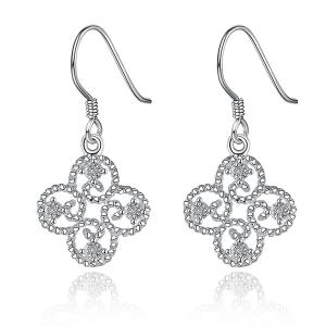 Rhinestone Clover Jewelry Set -