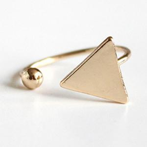 Triangle Bead Cuff Ring - Golden - One-size