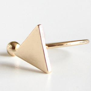 Triangle Bead Cuff Ring - GOLDEN ONE-SIZE