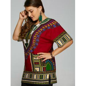 Ethnic Printed Plus Size Blouse -