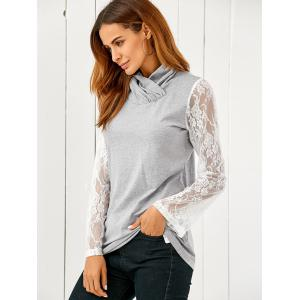 Lace Flare Sleeve Pullover -