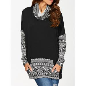 Cowl Neck Kangaroo Pocket Pullover