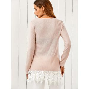 Lace Patchwork Pullover -