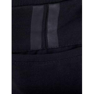 PU Zipper Pocket Drawstring Waist Jogger Pants - BLACK 4XL