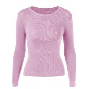 Bodycon Candy Color Pullover Sweater -