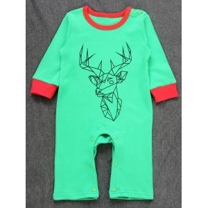 Baby Christmas Deer Printed Jumpsuit