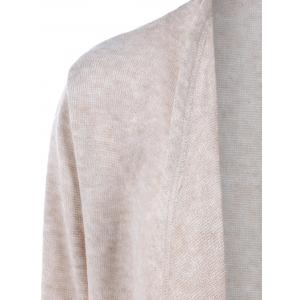 Loose Asymmetrical Cardigan - APRICOT XL