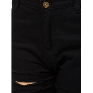 Pockets Distressed Jeans - BLACK XL