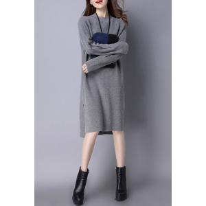 High Low Slit Knitted Dress