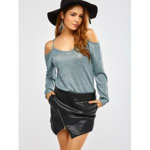 Long Sleeve Cold Shoulder T-Shirt -