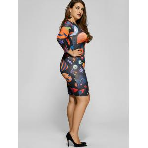 Robe Bodycon - Multicolore 5XL