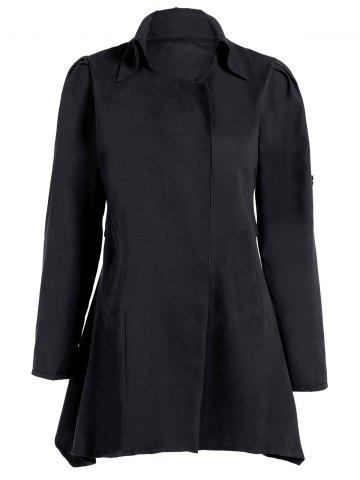 Fancy Asymmetric Duster Coat BLACK 2XL