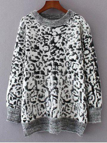 Shops Leopard Jacquard Pullover Sweater