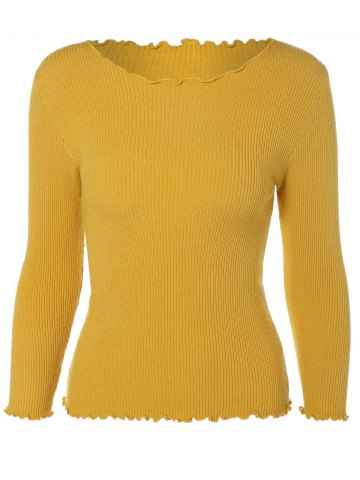 Trendy Long Sleeve Fitted Short Knit Pullover Sweater