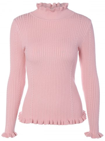 Outfits Mock Neck Long Sleeve Tight Pullover Sweater