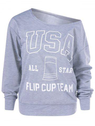 Online The USA Print Pullover Sweatshirt