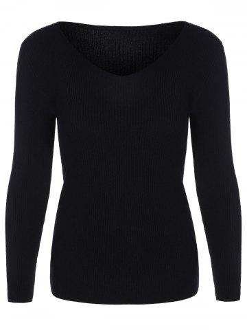 Discount Casual Long Sleeve Tight Pullover Sweater