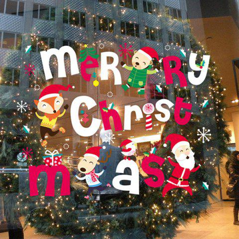 Shop Colorful Merry Christmas Removable Glass Window Wall Stickers
