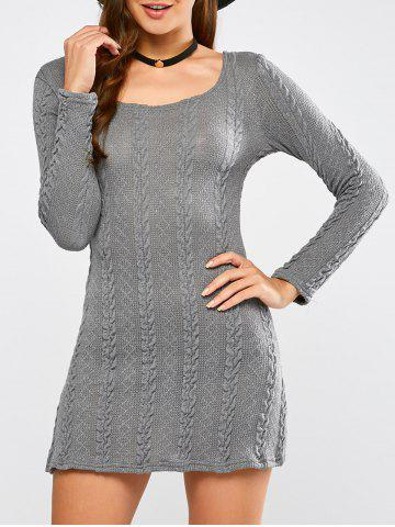 Shop Tunic Cable Knit Mini Jumper Dress