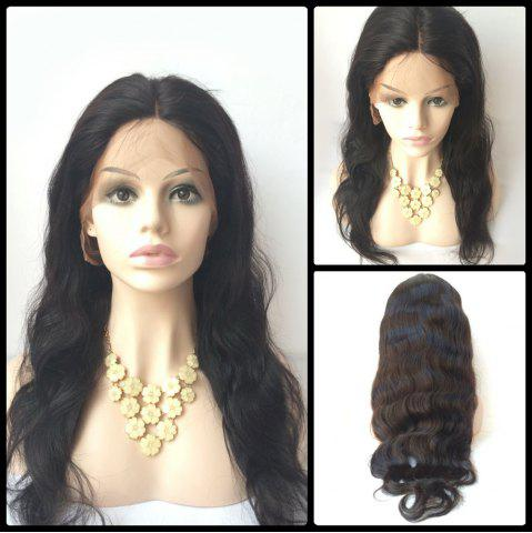 Best Middle Parting Long Body Wave Lace Front Human Hair Wig