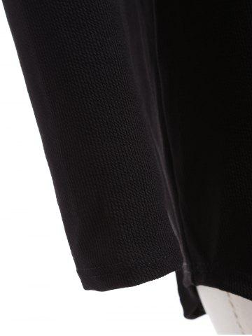 Latest Plus Size Knitwear with Arc Hem - 2XL BLACK Mobile