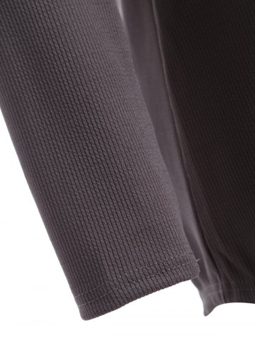 Latest Plus Size Knitwear with Arc Hem - XL DEEP GRAY Mobile