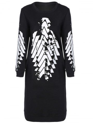 Affordable Printed Long Sleeve Dress