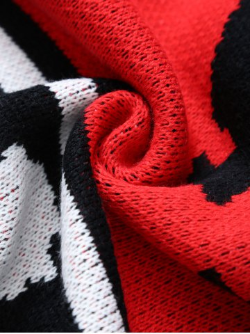 Fancy Originality Witch Pattern Knitted Rectangle Blanket - RED  Mobile