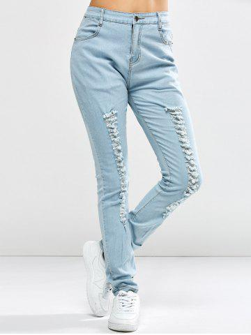 Trendy Pocket Distressed Jeans