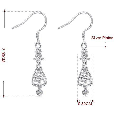 Latest Water Drop Jewelry Set - SILVER  Mobile