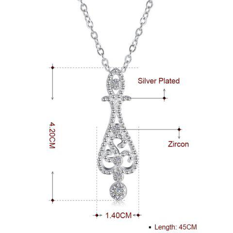 Chic Water Drop Jewelry Set - SILVER  Mobile