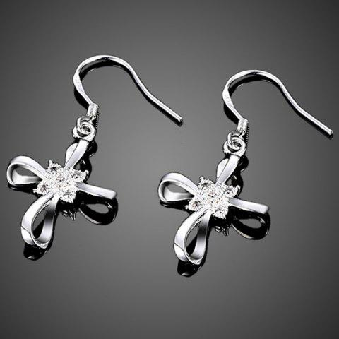 Outfits Rhinestone Cross Jewelry Set - SILVER  Mobile