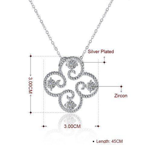 Affordable Rhinestone Clover Jewelry Set - SILVER  Mobile