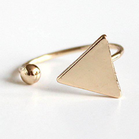 Sale Triangle Bead Cuff Ring - ONE-SIZE GOLDEN Mobile