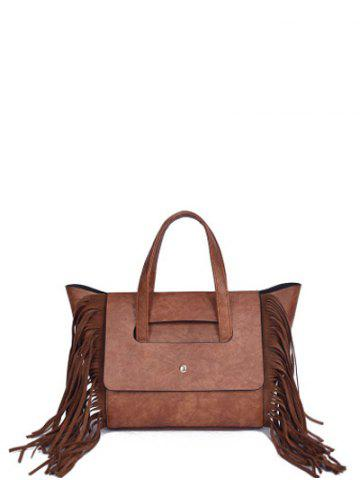 Shops Winged PU Leather Fringe Tote
