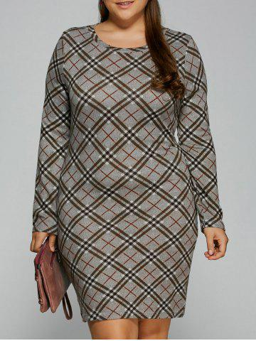 New Plaid Sheath T-Shirt Dress