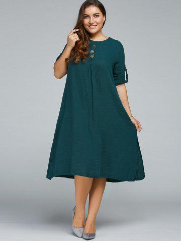 Best Plus Size Long Sleeve Embroidered Dress