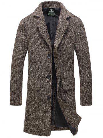 Outfit Turndown Collar Single-Breasted Lengthen Woolen Coat