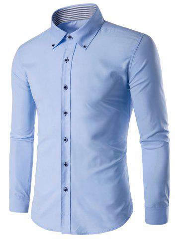 New Slim Fit Button Down Collar Long Sleeve Shirt