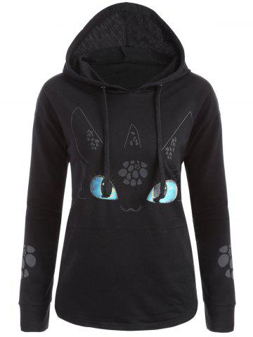 Sale Cartoon Character Graphic Hoodie - XL BLACK Mobile