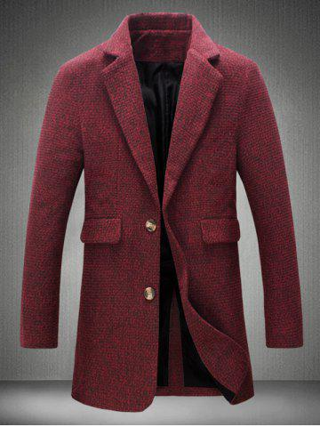 Best Lapel Collar Flap Pocket Tweed Heather Coat