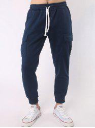 Multi Pocket Drawstring Elastic Waist Beam Feet Jogger Pants