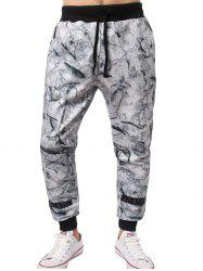 Porcelain Stripe Printed Jogger Pants