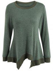 Autumn Covered Edge Asymmetric Pullover Knitwear -