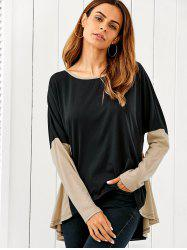 Patchwork High Low Blouse -