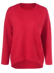 Loose Pocket Pullover Sweater -