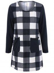 Plaid Pocket Mini Dress - CHECKED